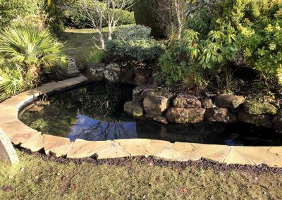After Pond renovation West Chiltington