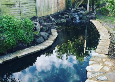 Pond build Tarring