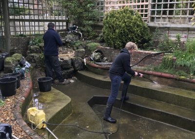 Pond pre for fibreglassing Steyning