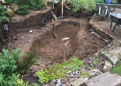Pond Rebuild Angmering Before